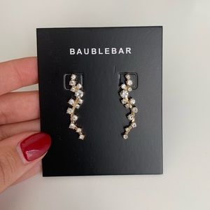 BaubleBar Farah Ear Crawler Crystal Earrings